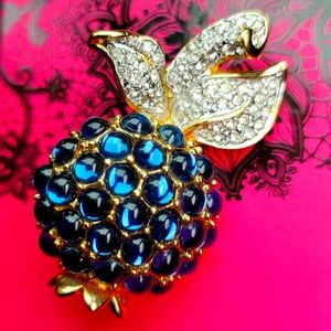 Swarovski pineapple brooch